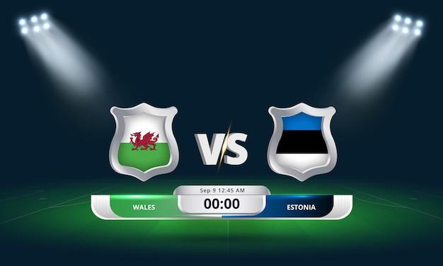 Qualification pour la coupe du monde de la fifa 2022 pays de galles vs estonie match de football