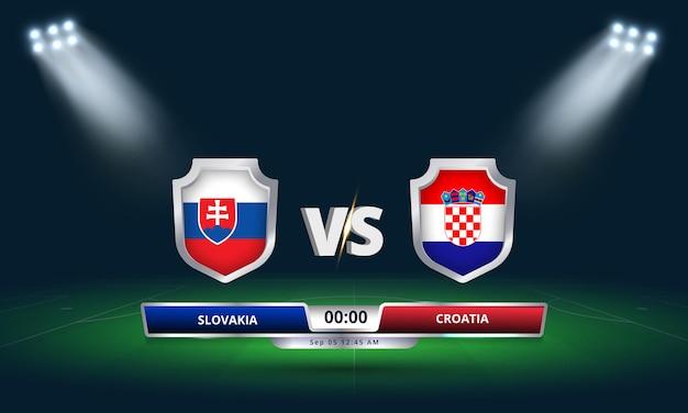Qualification pour la coupe du monde de la fifa 2022 slovaquie vs croatie match de football