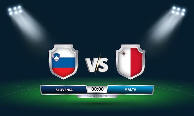 Qualification pour la coupe du monde de la fifa 2022 slovénie vs malte football match
