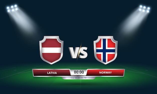Qualification pour la coupe du monde de football 2022 lettonie vs norvège match de football