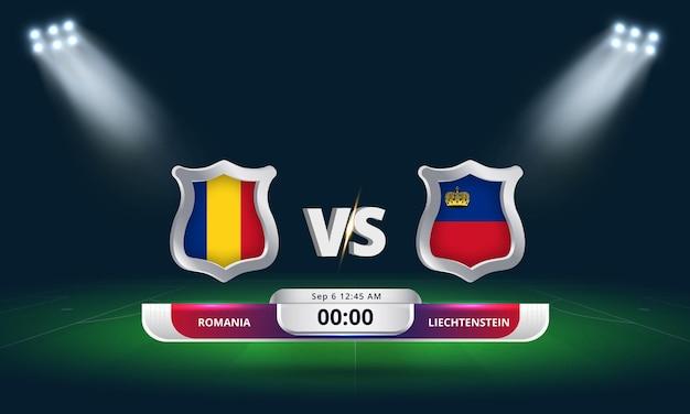 Qualification pour la coupe du monde de football 2022 roumanie vs liechtenstein match de football