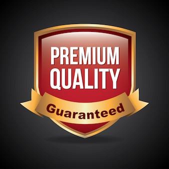 Qualité premium sur illustration vectorielle fond noir