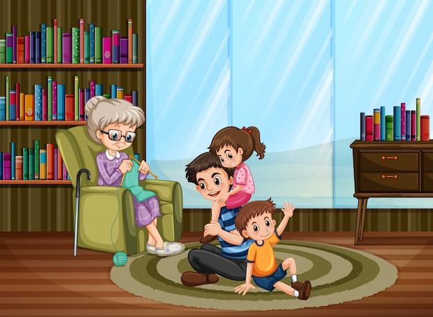 Quarantaine familiale heureuse à la maison