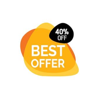 Quarante pour cent sur l'offre d'inscription sur les taches