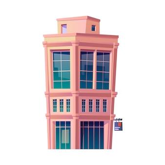 Quartier des affaires ou architecture du centre-ville et bâtiments zone urbaine isolée ou centre financier