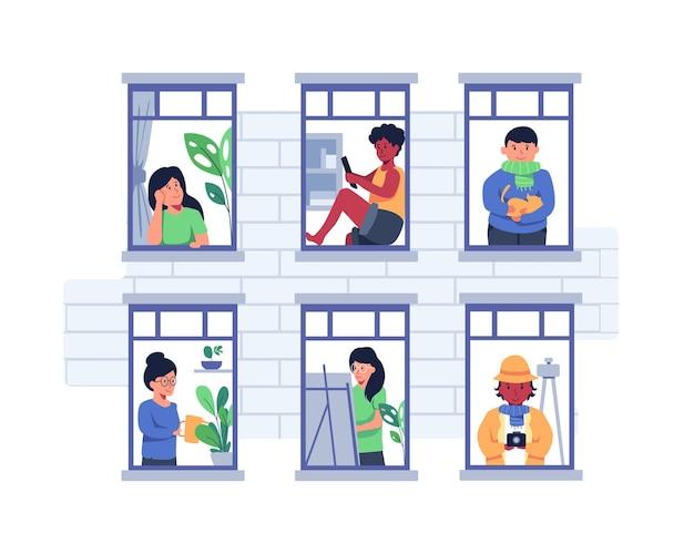 Quartier avec différents types d'emplois