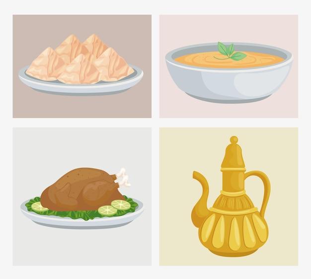 Quatre aliments arabes