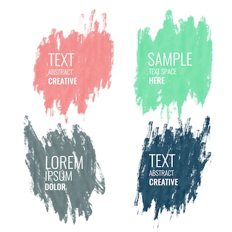 Quatre bannières aquarelle avec espace de texte