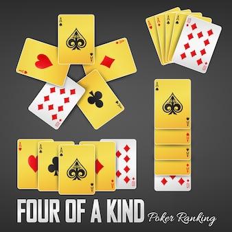 Quatre casinos de classement de poker