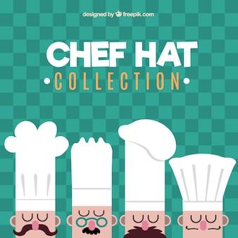 Quatre chefs avec différents chapeaux