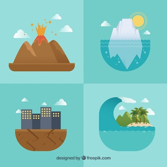 Quatre conceptions de catastrophes naturelles