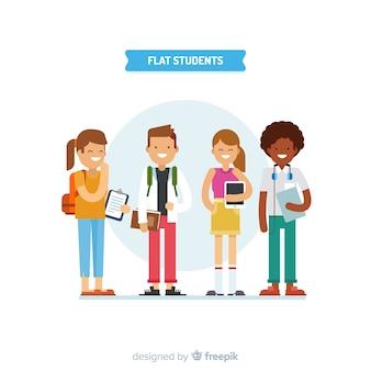Quatre étudiants