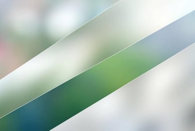 Quatre floue jeu de vecteurs horizons