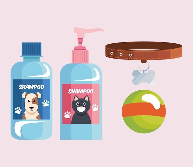 Quatre icônes d'animalerie