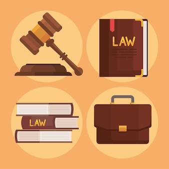Quatre icônes de droit et de justice
