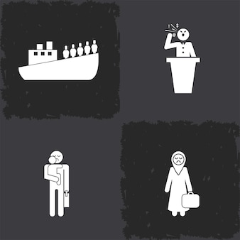 Quatre icônes du terrorisme