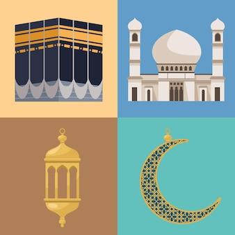 Quatre icônes de hajj mabrur
