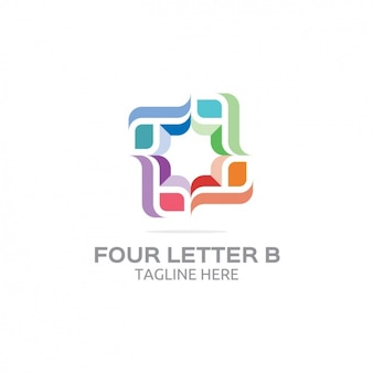 Quatre lettre b logo
