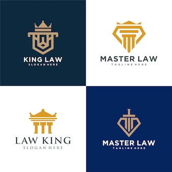 Quatre logo droit rond simple
