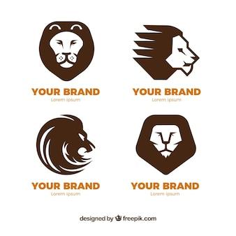 Quatre logos de lion pour les entreprises