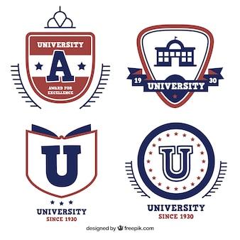 Quatre logos pour l'université