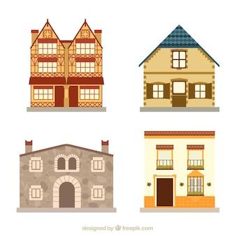 Quatre maisons différentes