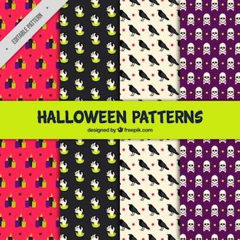 Quatre modèles de halloween effrayant
