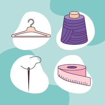 Quatre modèles de mode