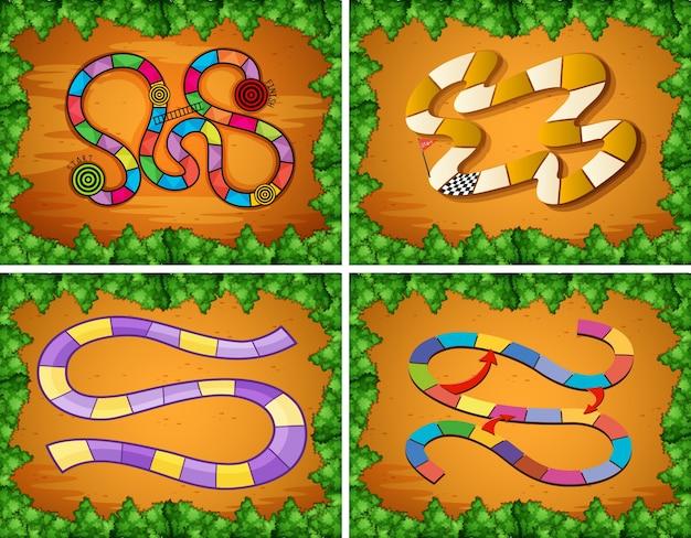 Quatre modèles de modèle de jeu
