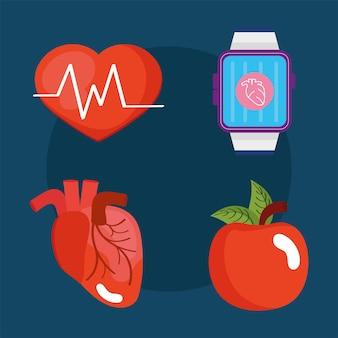 Quatre moniteurs de santé portables