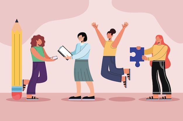Quatre personnages féminins innovants