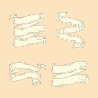 Quatre rubans de croquis