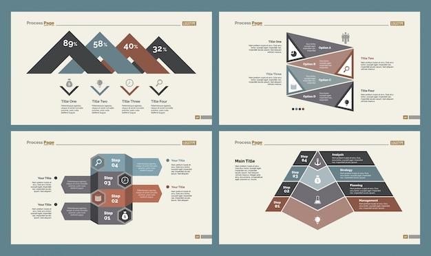 Quatre schémas de gestion ensemble de modèles de diapositives