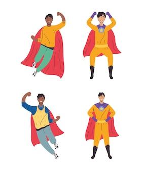 Quatre super papas