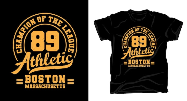 Quatre-vingt-neuf conception de t-shirt typographie athlétique