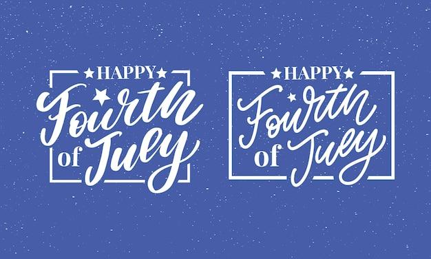 Quatrième 4 juillet design élégant de la fête de l'indépendance américaine