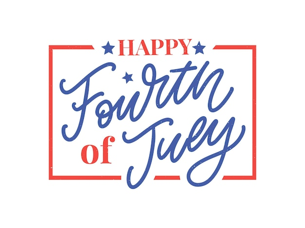 Quatrième de juillet design élégant de la fête de l'indépendance américaine le quatrième de juillet