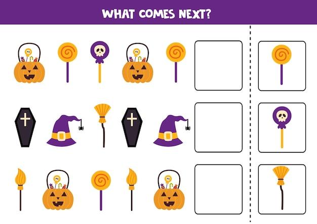 Que vient le prochain jeu avec des éléments mignons d'halloween.