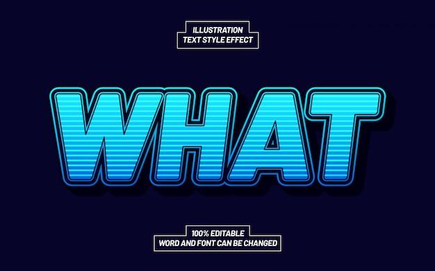Quel effet de style de texte dépouillé de lumière bleue