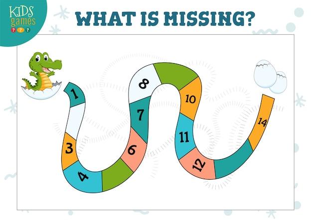 Quel nombre manque jeu de mathématiques et quiz pour les enfants d'âge préscolaire