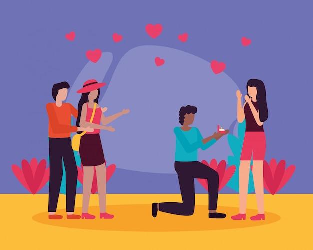 Quelques activités romantiques en plein air plat