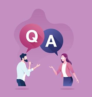 Question et réponse concept