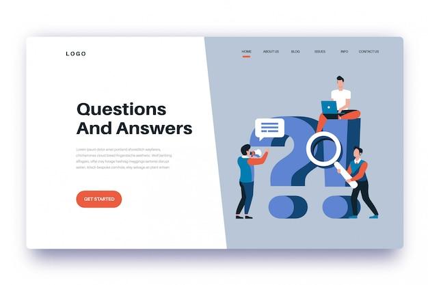 Questions et réponses sur la page de destination