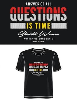 Questions typographie pour t-shirt imprimé