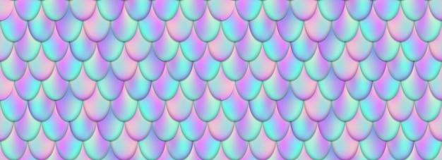 Queue de sirène holographique, peau de poisson.