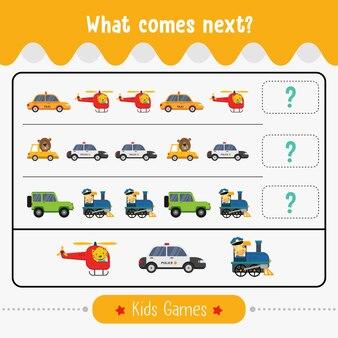 Ce qui vient ensuite, jeu d'activités éducatives pour les enfants d'âge préscolaire