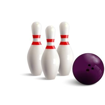 Quille de bowling.