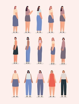 Quinze jolies femmes