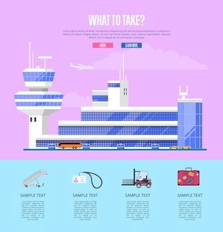 Quoi prendre concept pour compagnie aérienne commerciale