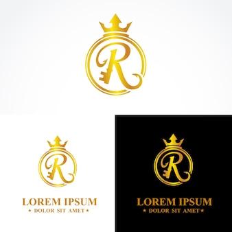 R lettres simples logo élégant